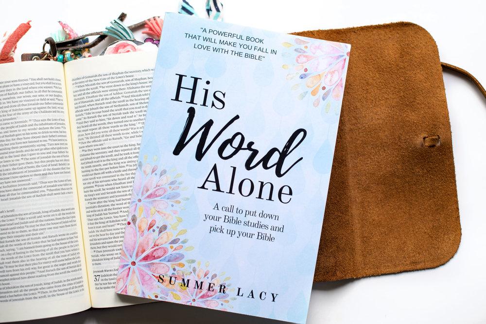 Put the Bible back in your Bible study. - The second edition of my book, His Word Alone; A call to put down your Bible studies and pick up your Bibleis now available.  Order it today!  HERE.