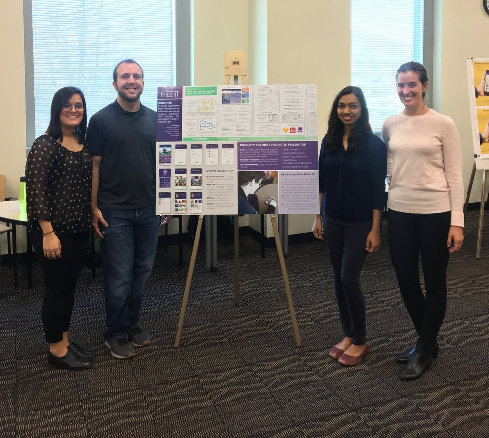 Team Acme Redesign on poster presentation day!