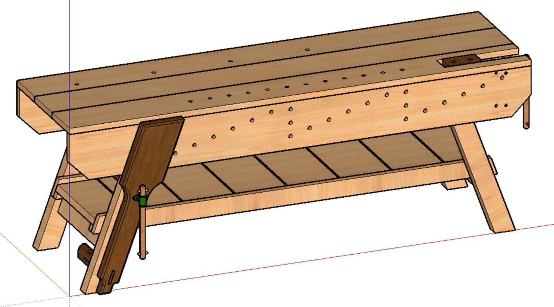 Nicholson Workbench Sketchup File Zh Fabrications