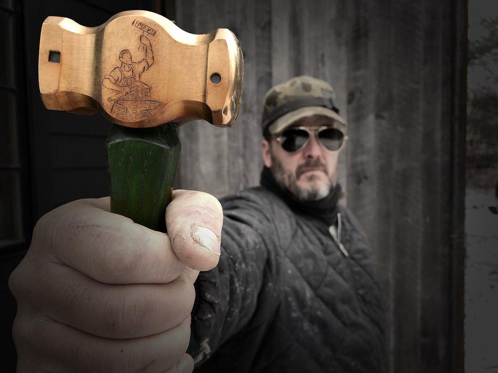 Forged & Engraved hammer for Jimmy Diresta