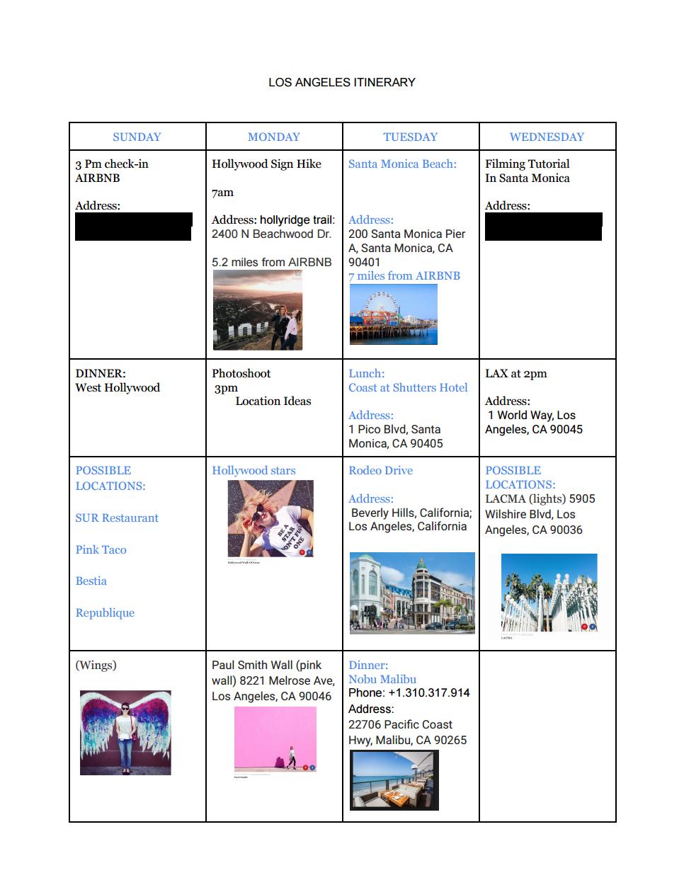 Itineraryexample