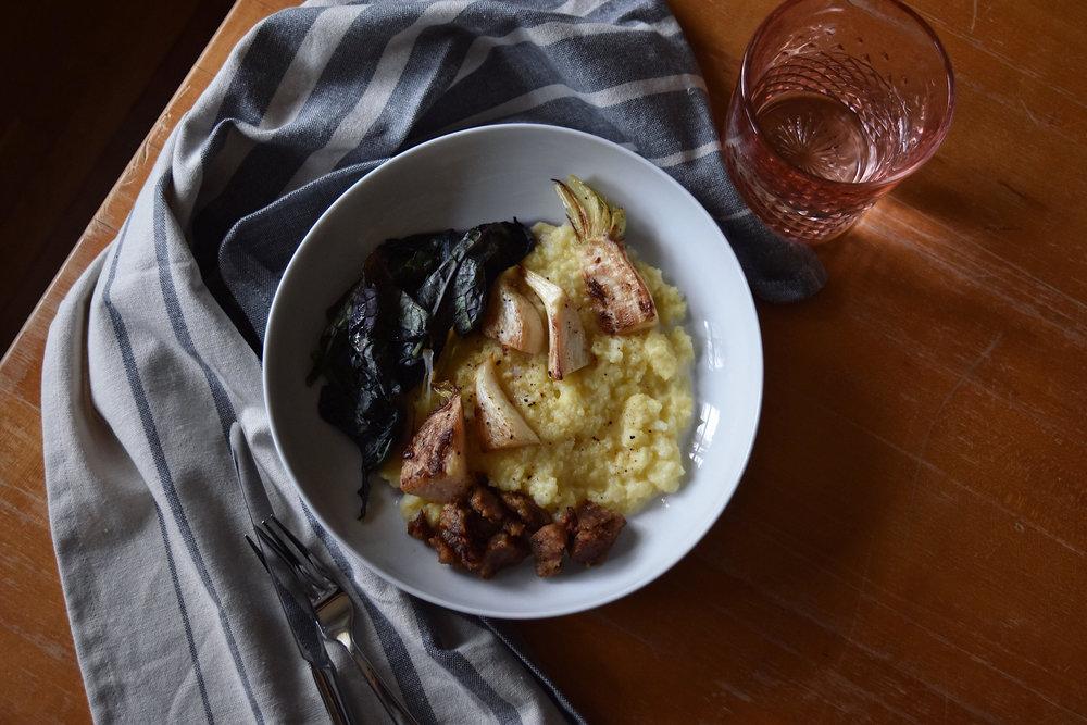 turnips polenta the full table blog 3