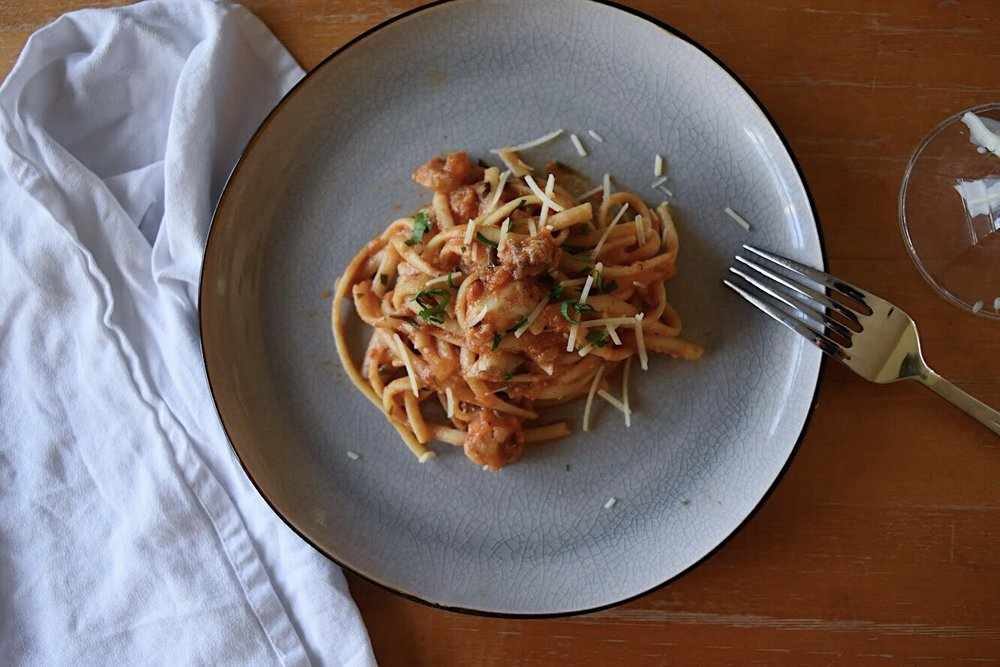 Date Night In: Linguine with Rockfish The Full Table Blog 3