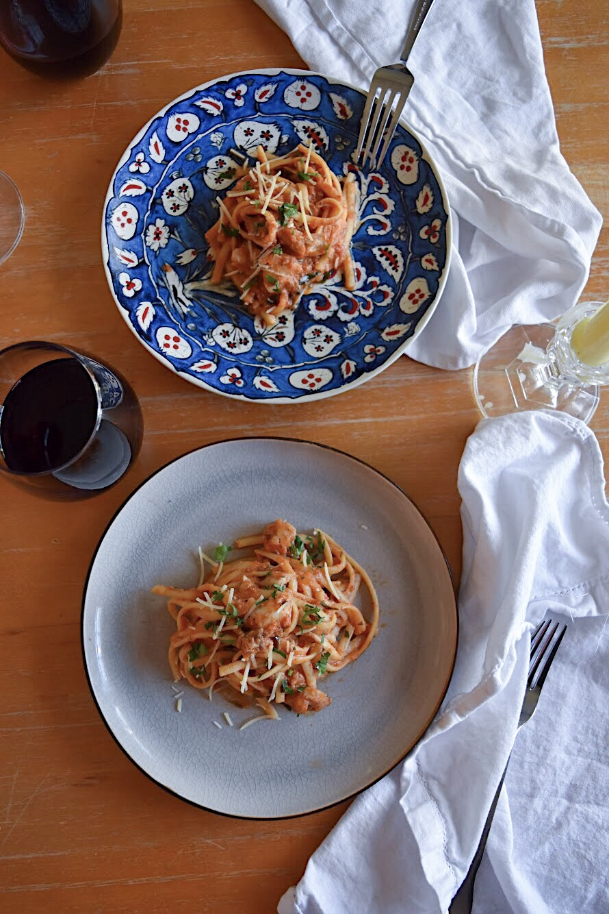 Date Night In: Linguine with Rockfish The Full Table Blog 2.jpg
