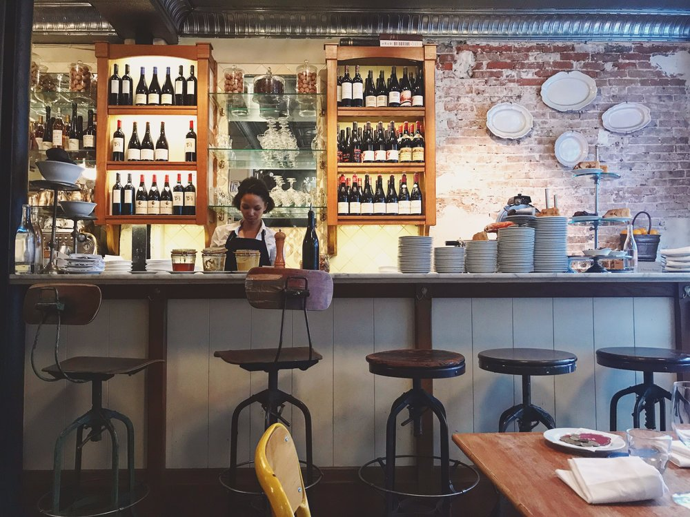 The charming bar at Buvette