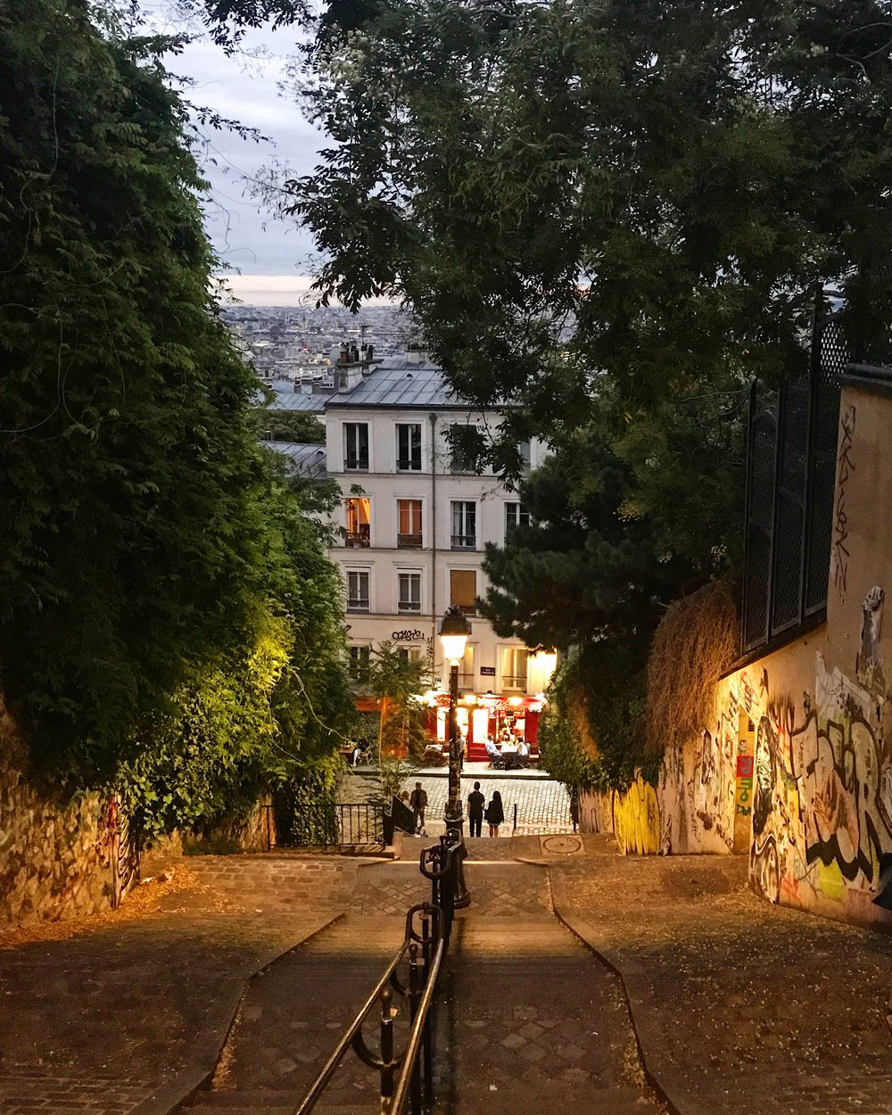 Montmartre at sundown