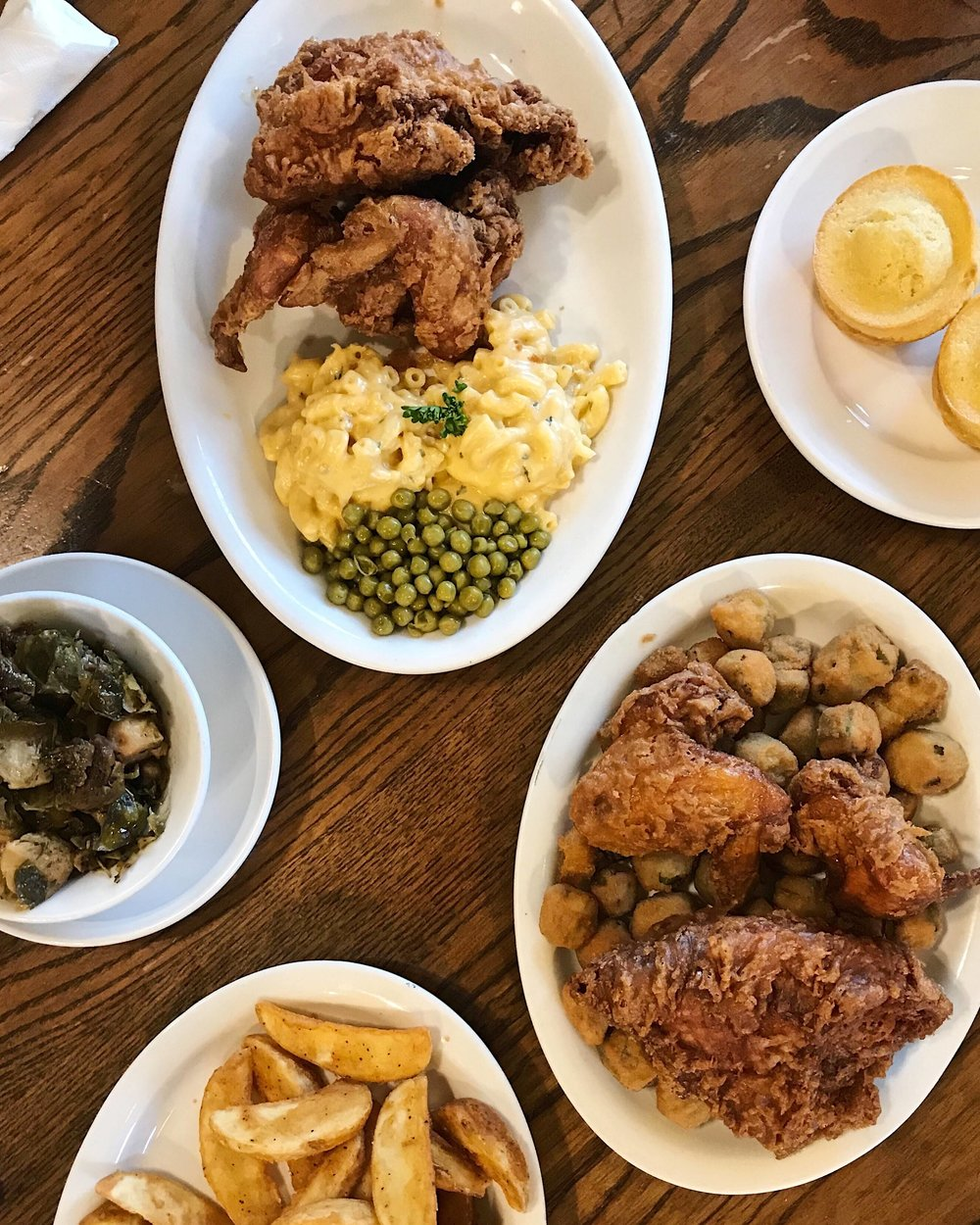 Our spread at Willie Mae's