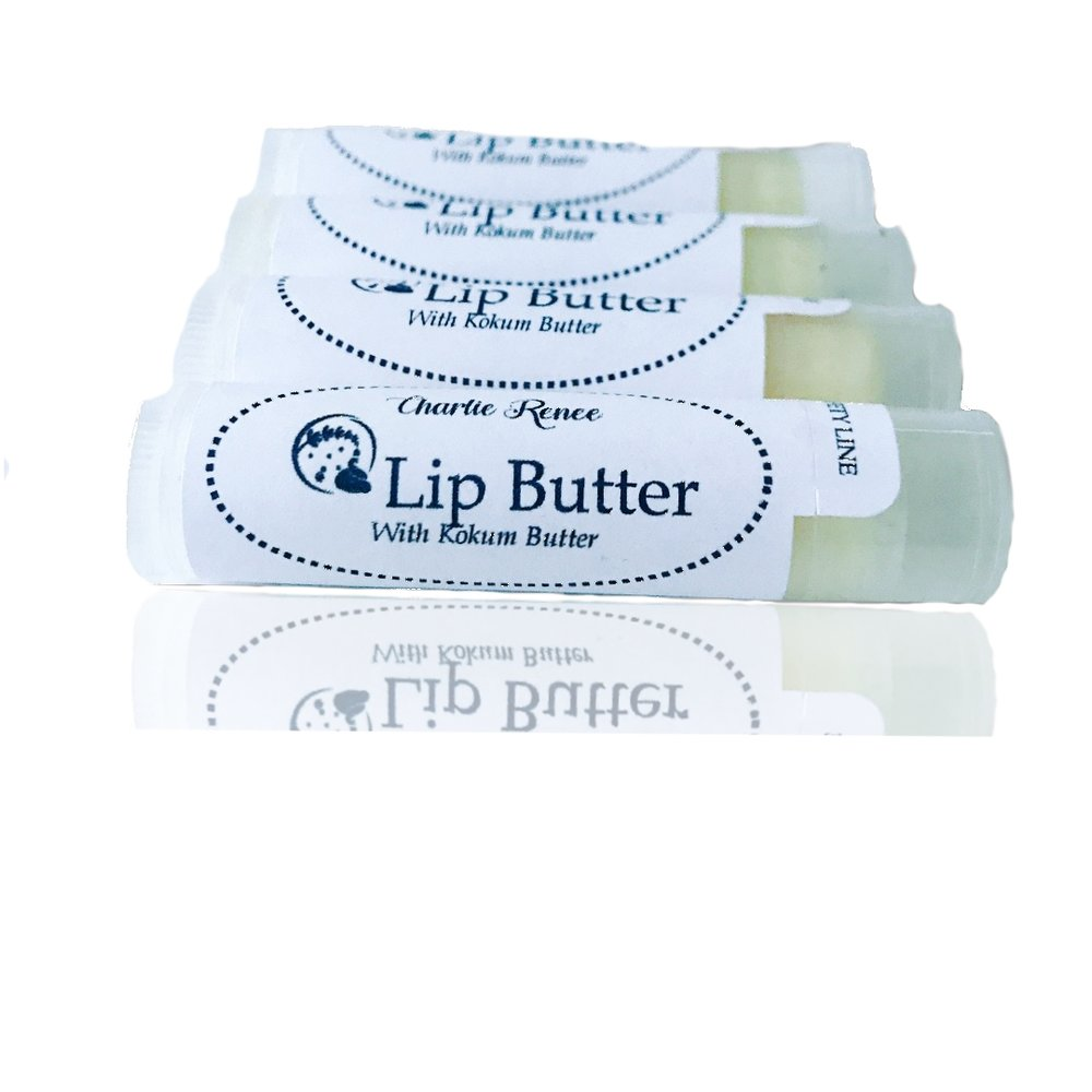 Lip Butter - Our lip butter is made with 100% unrefined shea butter and kokum butter.  The combination moisturizes your lips for hours.