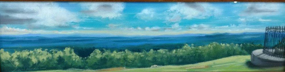 """""""Grant's Last View"""" pastel by Bev Saunders $180"""