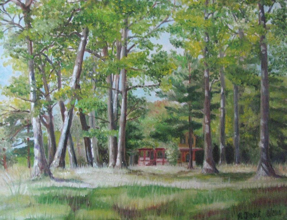 "Sandra L. Jabaut ""Grant's Cottage Morning Light"" Oil on Canvas 11X14 $400"
