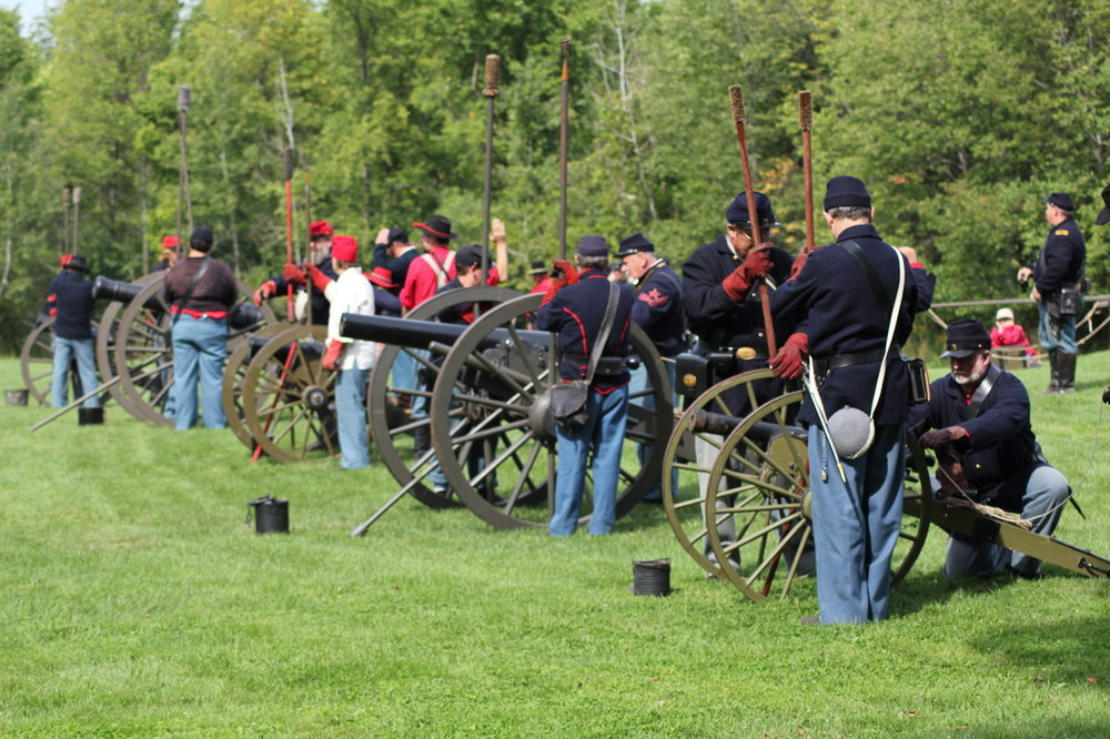 August 11th & 12th a hundred authentic living historians will engage in mock battle scenarios with cannons, cavalry horses and realistic illustrations of life during the Civil War.