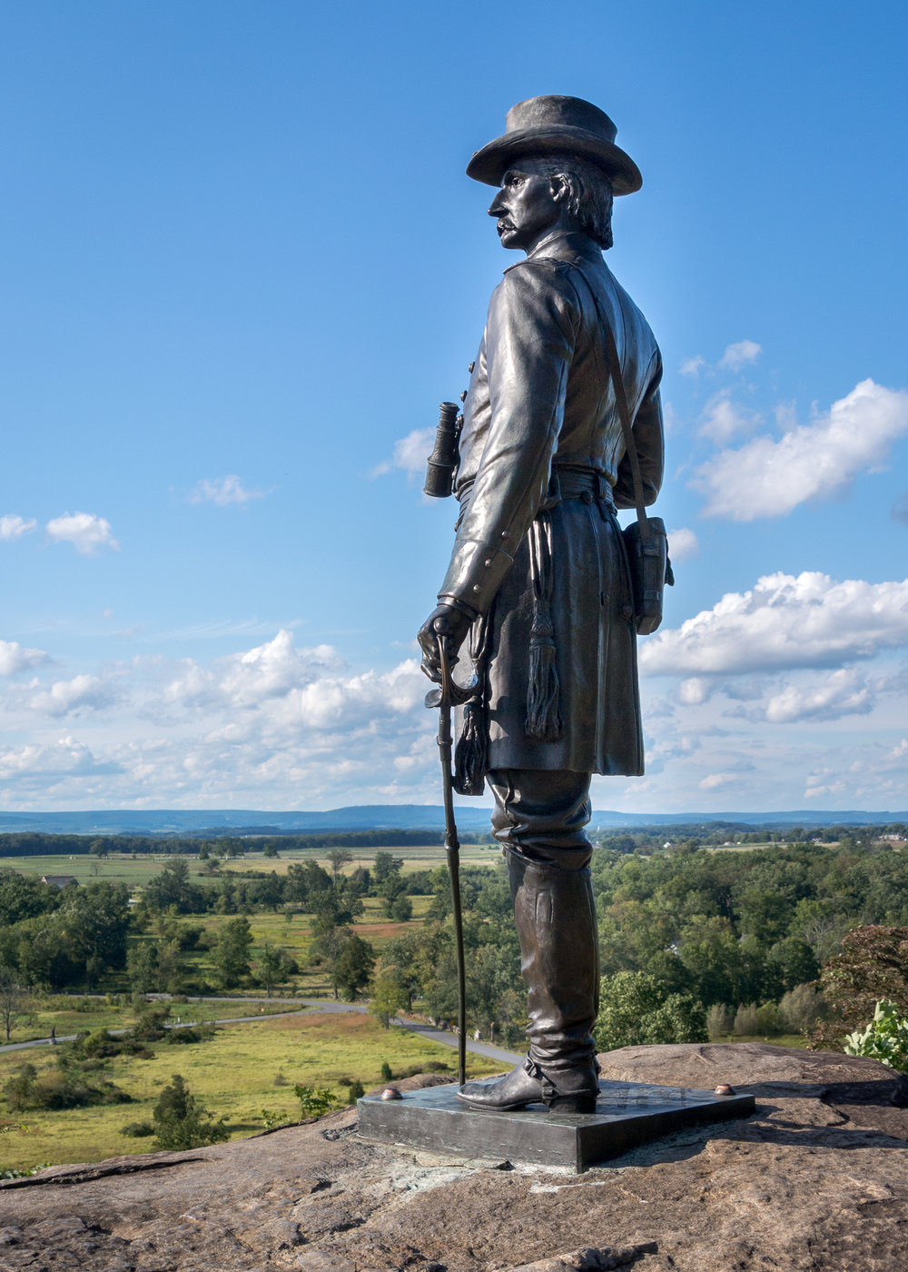 Warren Statue on Little Round Top Gettysburg Battlefield.jpg