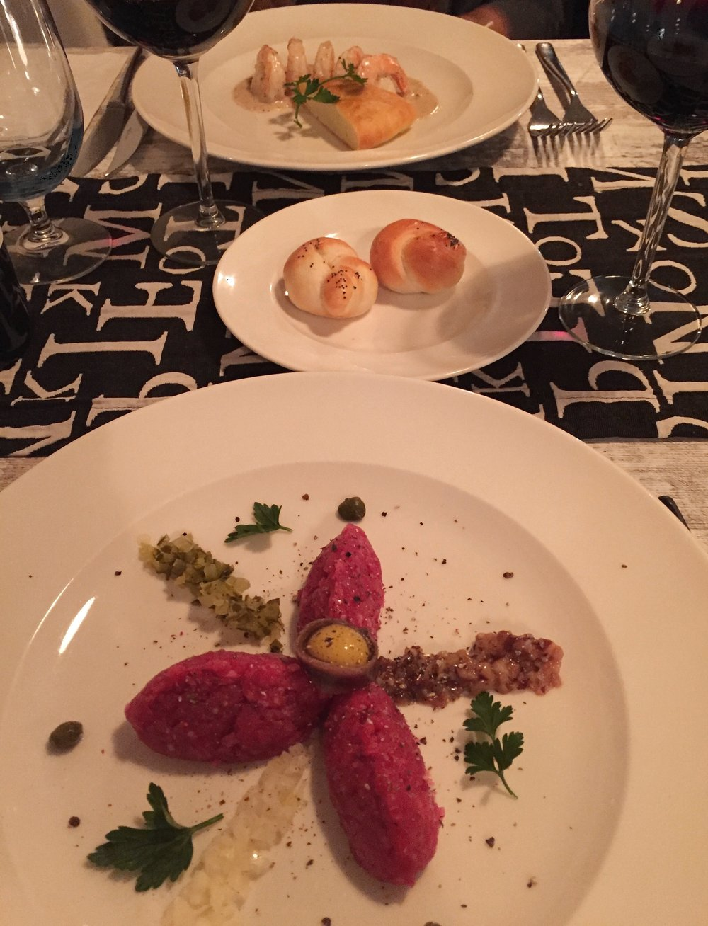 This was our starter at the best rated restaurant in the Old Town, I really wish I could remember the name! Ben had Wild Rabbit which you can see here and I had prawns (opposite) so yummy!
