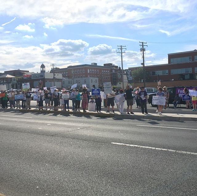 Protests outside Andy's office this week