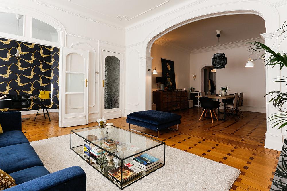 Appartemment à Schaerbeek - Après 3 mois de travaux dans cette habitation, découvrez les avant-après. L'objectif était de garder l'âme de la maison tout en donnant un coup de jeune.