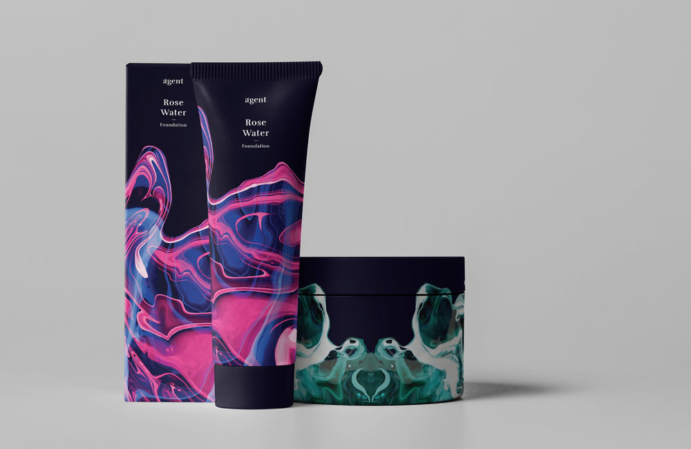 Agent beauty cosmetic brand packaging