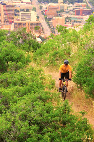 Bike. - Mountain Bike City Creek Canyon = Enjoy a mountain bike trail along the benches of Salt Lake City. Escape into the foothills and enjoy the view of the valley. Meet at the Salt Palace Convention Center in the South Plaza at 1:30 pm.