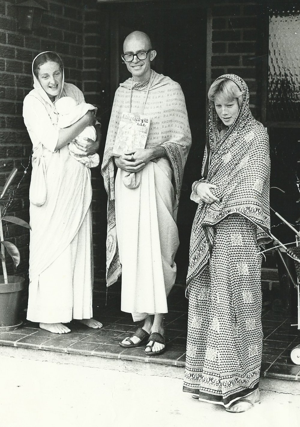Glenda on the right as a Hare Krishna