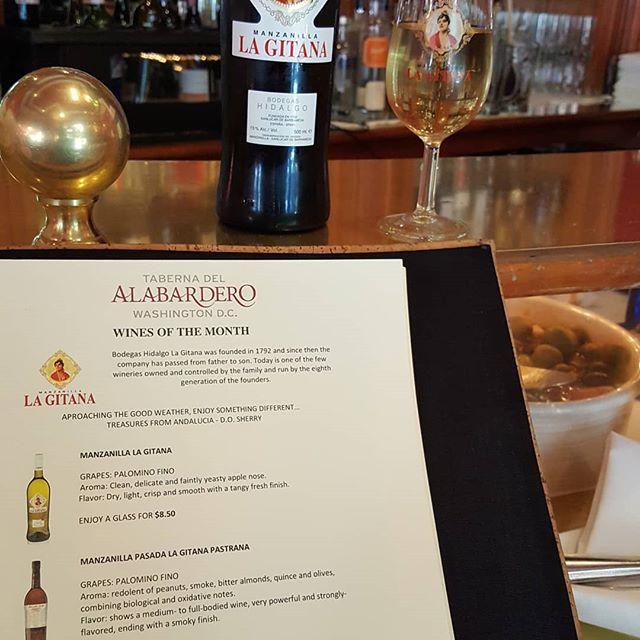 La Gitana wine of the month @ Taberna! #tabernadelalabardero #hidalgolagitana #lagitana #manzanilla #las30delcuadrado