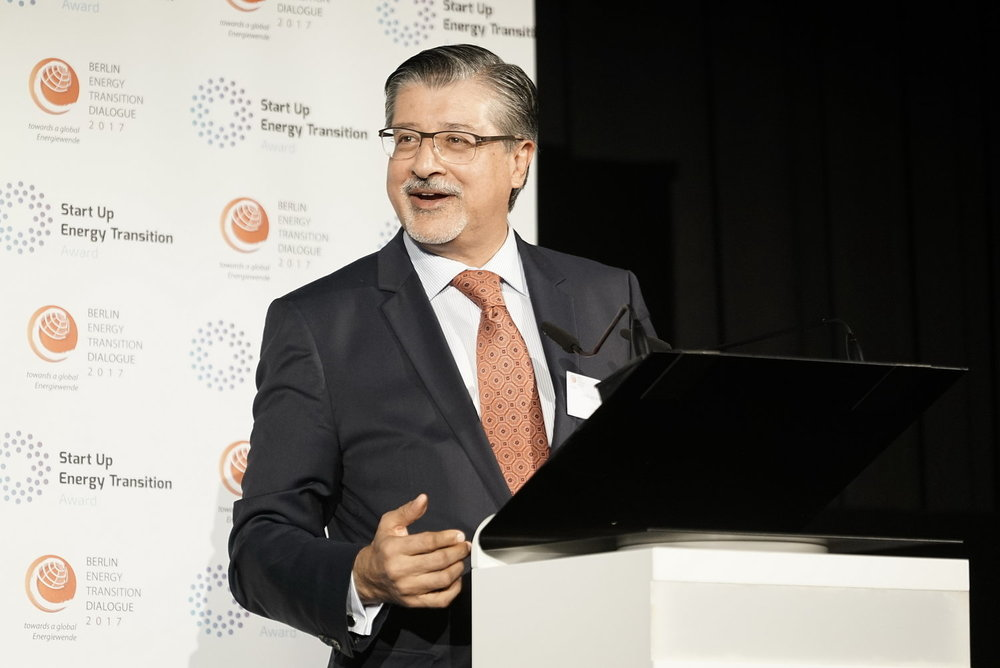 "Adnan Amin  Director-General, International Renewable Energy Agency (IRENA)  ""We are on a journey to advance global collaboration for a sustainable future based on clean renewable energy."""