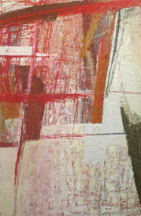 EXCAVATION 2016 Mixed media on canvas 150cm (H) x 100cm (W)