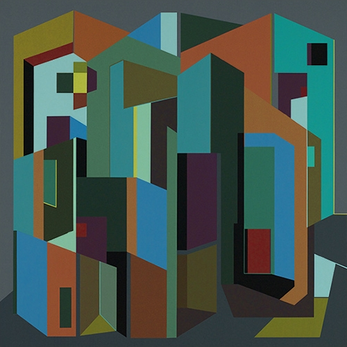 #35, 2014 acrylic on wood panel, 26 x 26 in., 2014