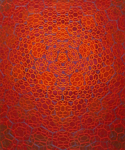 "RED NET Oil on linen 36""x30 2012"