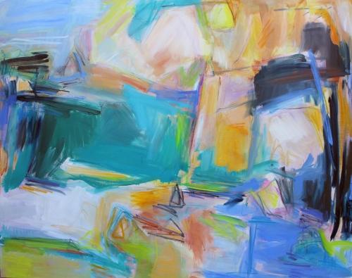 REMEMBERING BERMUDA  Oil on Canvas 44x56 in. 2017