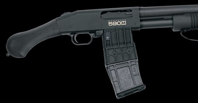 Magazine fed 590 Mossberg Shockwave. #toocoolforwords #shockwave #nfacanpoundsand