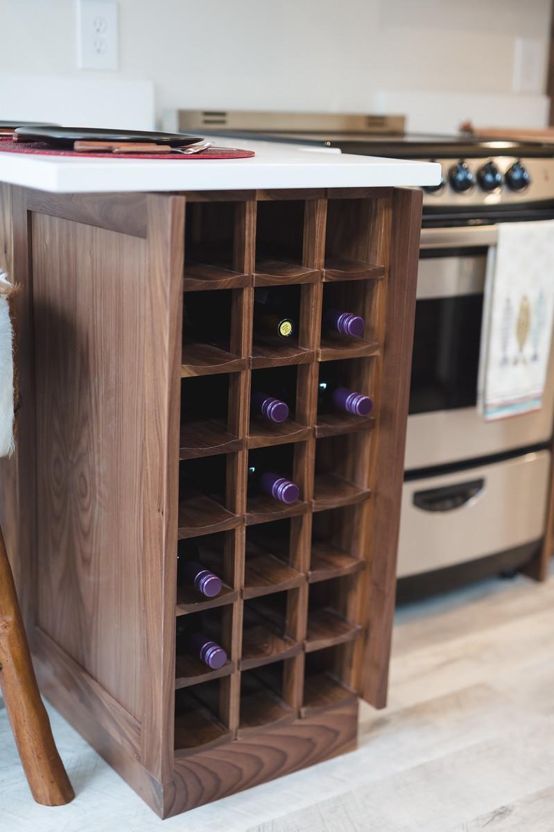 21 Bottle Built-in Wine Rack