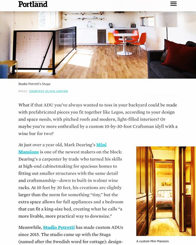 I feel incredibly blessed to be featured in this years Portland Monthly Design Annual. Check out the article, ADU's and Mini Mansions are the future for simple high end living! #minimansion #minimansions #preordernow #tinyhousemovement #tinyhousenation #tinyhome #tinyhomes #tinyhomeliving #hgtv #diy #highend #custom #design #cleanlines #buildyourbrand #buildyourbusiness #buildyourdreams #letmehelp #portland #oregon