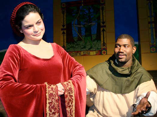 """From left: Miad Marian (Alethea Rivera) and Robin Hood (Antoime """"RL"""" Joyce) in the Youth Onstage! production of Robin Hood: A Political Romance Photo: Ronald L. Glassman"""