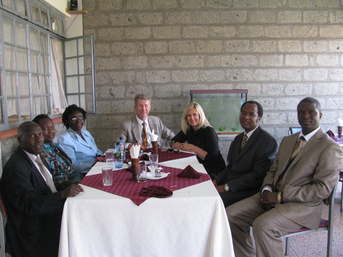 Lunch with Kabarak leaders