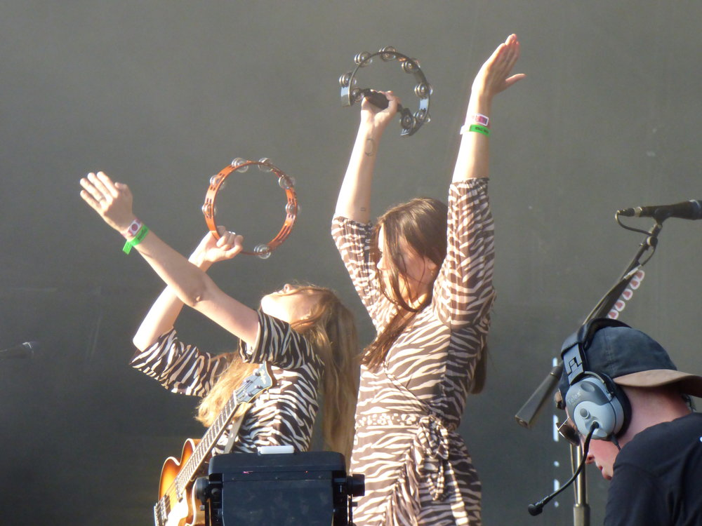 First Aid KitBestival - First Aid Kit are currently touring off of the back of one of the finest albums of their career and festival appearances this year have been kept to a minimum. Tonights performance showcased just why they deserved that 'special guest' labelling on the lineup.