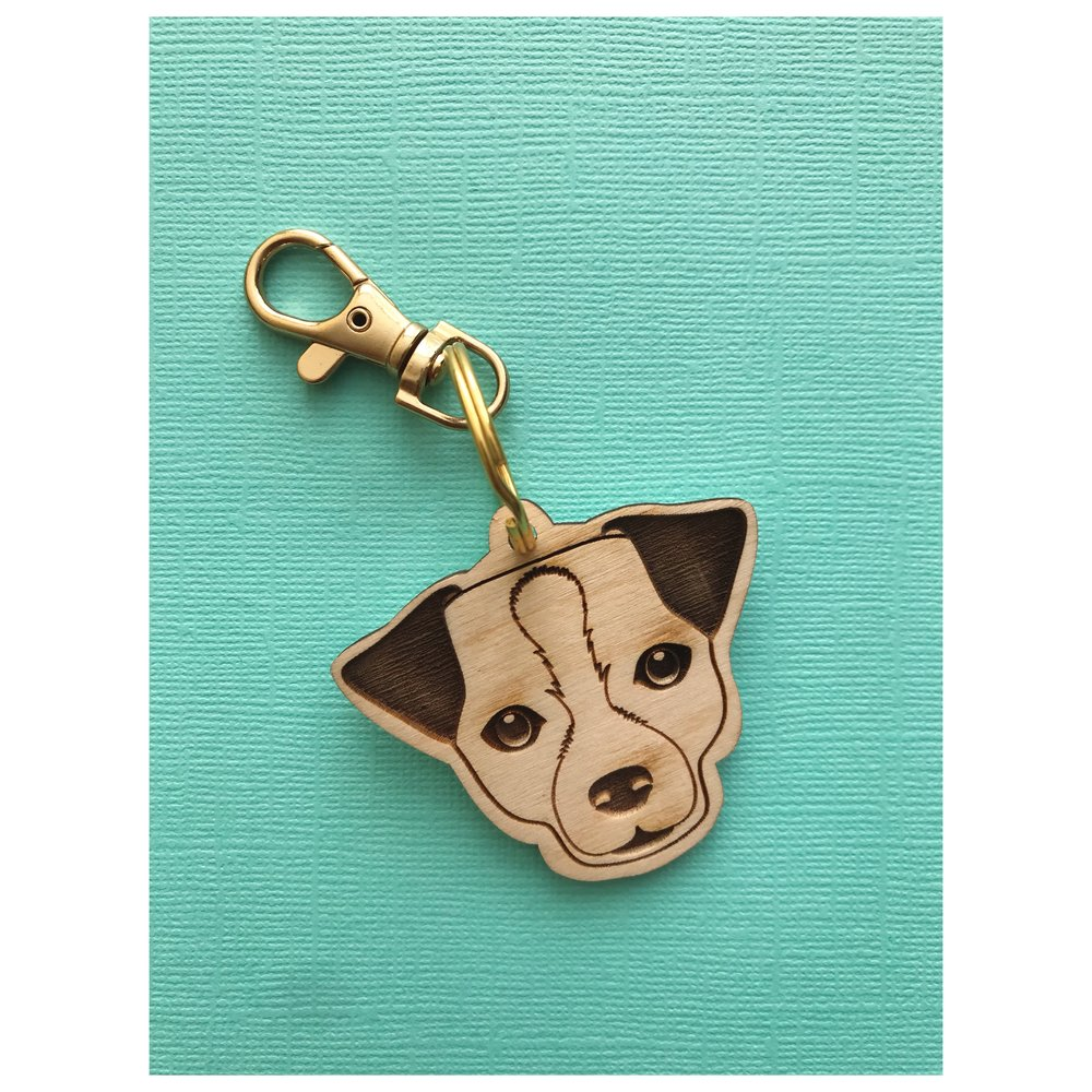Dingy Project Jack Russell Keychain