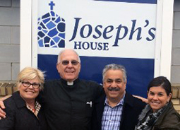 Peggy, Pepe, and Elena Piperno of the Domenica Foundation with Msgr. Bob McDermott