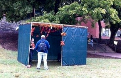 Ricky shares Messiah in a Sukkot at App. State