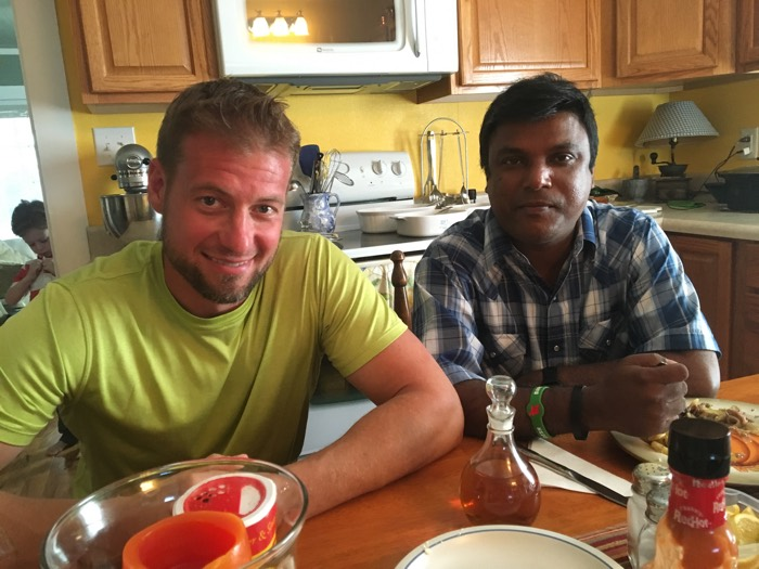 What a joy it is to again host Pastor James from Bangladesh at my table.