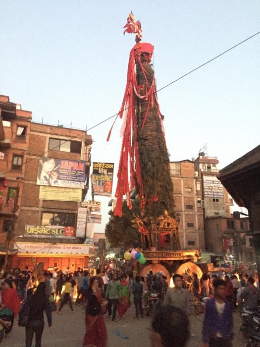Preaching at a Pagan Newari Religious Festival in Kathmandu
