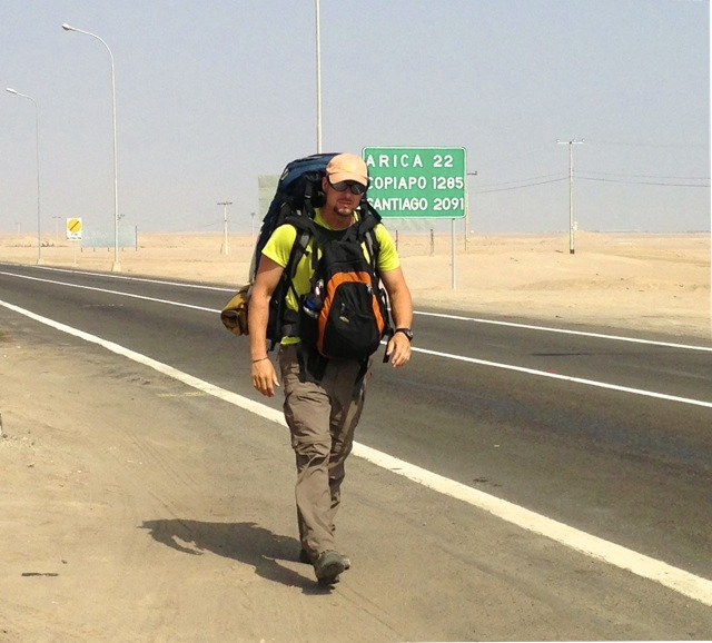 Walking across the desert back into Southern Peru
