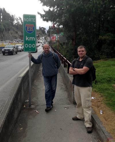 Walking into Columbia with Jon Lane
