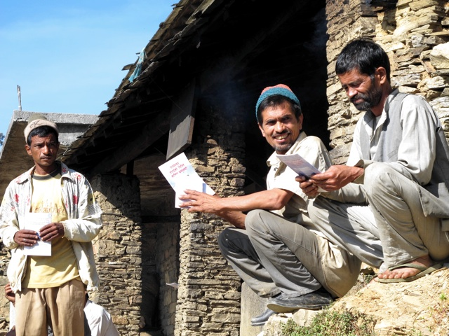 Men receive the Word of God in their language in the formerly inaccessible Baitadi District