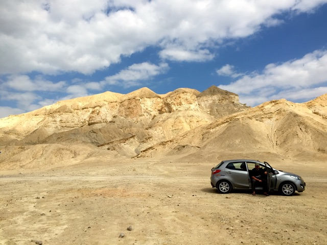 This little car took us everywhere, even the desert wasteland where Sodom once stood.