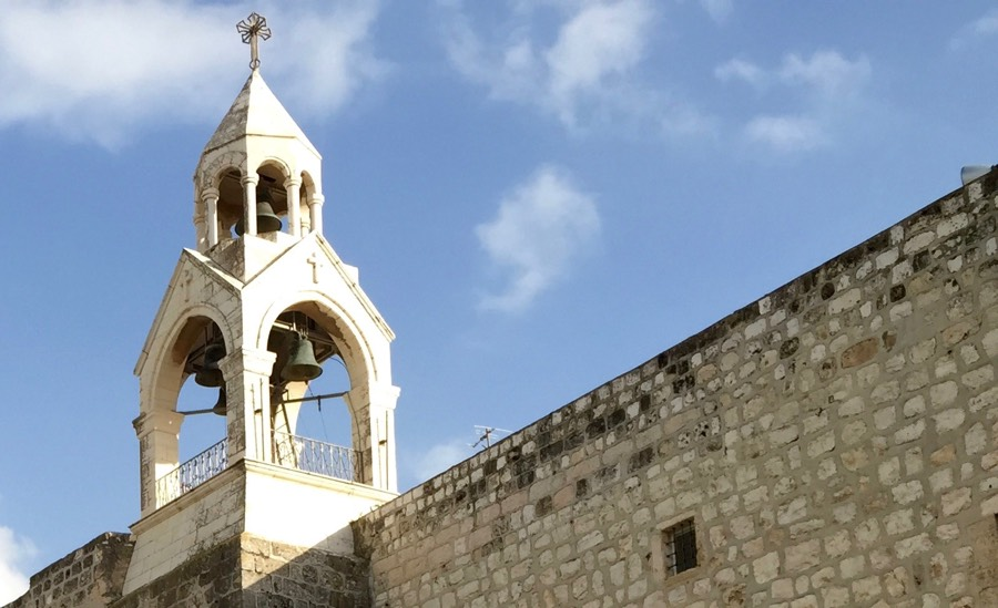 I snapped this shot of the bells atop the Church of the Nativity in Bethlehem back in February.