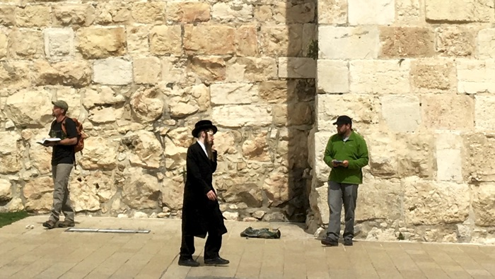 Preaching the Risen Messiah outside the Jaffa Gate of the Old City of Jerusalem on Easter Sunday