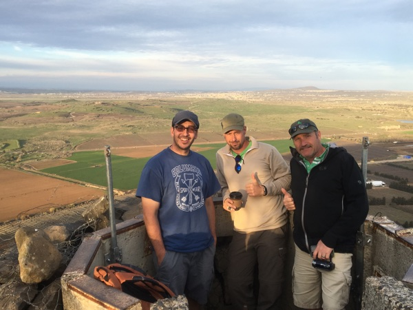 Coffee atop Mt. Bental on the Syrian Border
