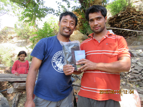This man asked for a new Bible, and he got one.