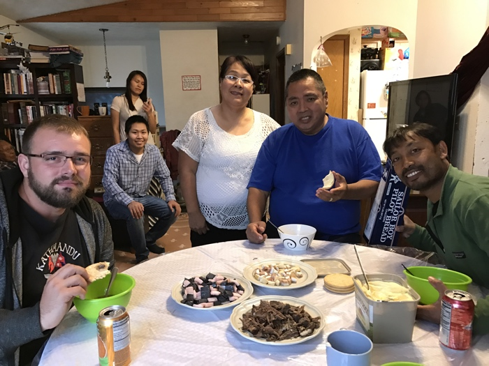Sometimes, the gift of God to eat, drink, and be merry with friends involves polar bear meat, humpback whale, and beluga as it did with these native brethren up on Alaska.