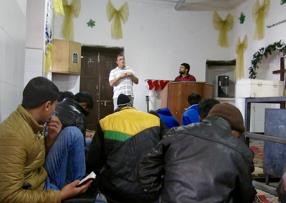Brother Ricky teaches basic biblical doctrine at last year's winter discipleship training for persecuted believers in India.
