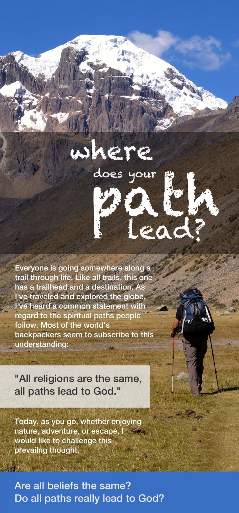 Where Does Your Path Lead, English